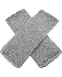 Black.co.uk Ladies Light Grey Fingerless Mittens - Lyst