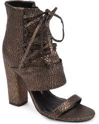 Camilla Skovgaard Laced Leather Sandals - Brown