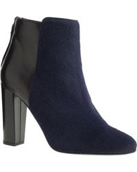 J.Crew Collection Rory Calf Hair Ankle Boots - Blue