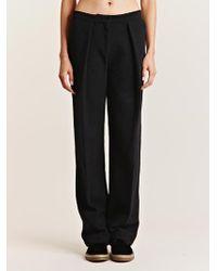 Lucas Nascimento Womens Boucle Wool Tailored Pants - Black