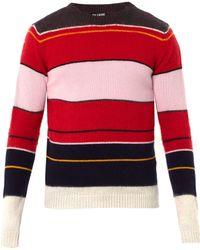 Raf Simons | Stripe Mohairwool Sweater | Lyst