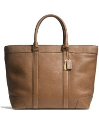 Coach Bleecker Weekend Tote in Pebbled Leather - Lyst