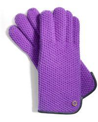 COACH - Honeycomb Knit Gloves - Lyst