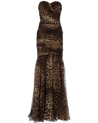 Dolce & Gabbana Long Dress - Lyst