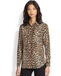 Equipment Signature Silk Leopard-Print Shirt - Lyst
