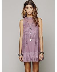 Free People Fp One Angel Lace Dress - Purple