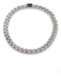 John Hardy - Classic Chain Black Sapphire & Sterling Silver Medium Braided Necklace - Lyst