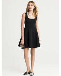 Banana Republic Ponte Fit-And-Flare Dress - Lyst