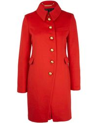 Marc By Marc Jacobs Red Military Cut Wool-blend Coat - Lyst