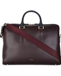 Paul Smith Pebbled Leather Folio Bag - Lyst