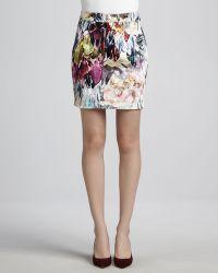 Talulah Met A Boy Printed Denim Skirt - Multicolor