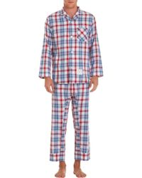 Thom Browne - Wide Check Flannel Pyjama Set - Lyst