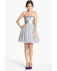 Aidan By Aidan Mattox Embellished Fit Flare Dress - Lyst