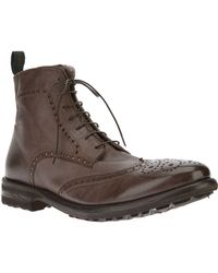 Alberto Guardiani Brogue Boot - Lyst