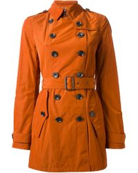 Burberry Brit Doublebreasted Trench Coat - Lyst