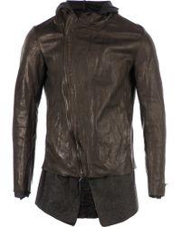 Incarnation - Contrast Hem Leather Jacket - Lyst