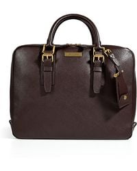 Michael Kors Leather Briefcase in Brown - Lyst