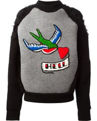 Sibling - Paula Hell Tattoo Knitted Sweater - Lyst