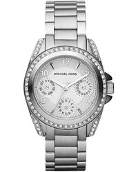 Michael Kors Ladies Stainless Steel Crystal Chronograph Watch - Lyst