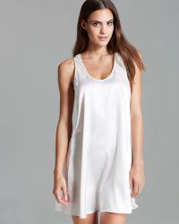 Oscar de la Renta Sweet Poetry Short Nightgown - White