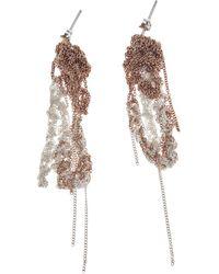 Arielle De Pinto - 2tone Drip Earring - Lyst