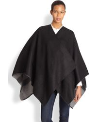 Burberry | Reversible Wool Check Cape | Lyst