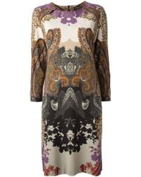 Etro Jersey Paisley Shift Dress - Lyst