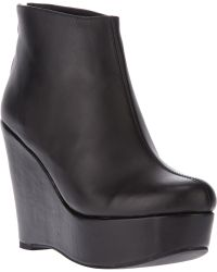 Jeffrey Campbell Alicia Wedge Ankle Boot - Lyst