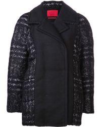 Moncler Gamme Rouge Roxanne Pea Coat - Black
