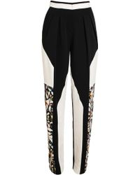 Peter Pilotto Abstract Floral Printed Crepe Pants - White