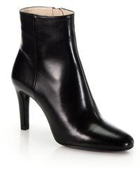 Prada Nappa Leather Sport Ankle Boots - Black