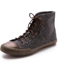 Seavees Army Issue High Top Trainers - Grey