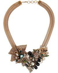 Bijoux Heart - Empire Goldplated Swarovski Crystal Necklace - Lyst