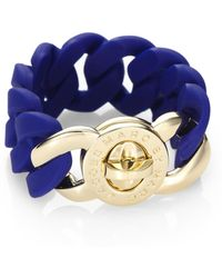 Marc By Marc Jacobs Katie Rubber Bracelet - Blue