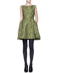 Alice + Olivia Jacquard Sleeveless Dress - Lyst