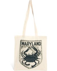 Herschel Supply Co. Borders Frontiers Maryland Travel Patch Shopper Bag - Natural