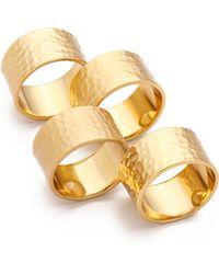 Gorjana - Camila Hammered Ring Set - Lyst
