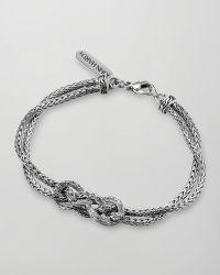 John Hardy Classic Chain Silver Love-Knot Bracelet - Lyst