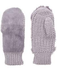 Kurt Geiger | Fur Knitted Mittens | Lyst