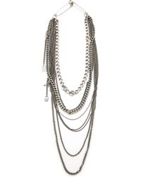 Tom Binns Layered Chain Necklace - Metallic