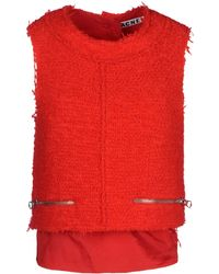 Acne Studios Top red - Lyst