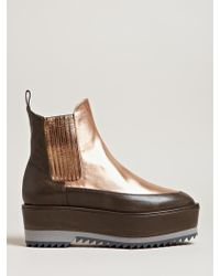 Damir Doma - Womens Fresia High Creeper Leather Boots - Lyst