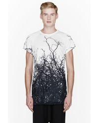 Gareth Pugh - Off_white and Black Bramble Print Tshirt - Lyst