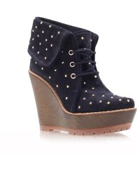 Mulberry Wedge Bootie - Lyst
