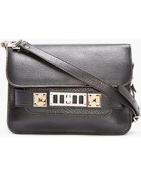 Proenza Schouler Black Leather Classic Ps11 Mini Shoulder Bag - Lyst