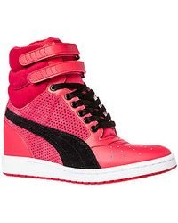 Puma The Sky Wedge Sneaker - Lyst
