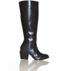 Atalanta Weller - Valenka Knee High Boot in Navy Blue - Lyst