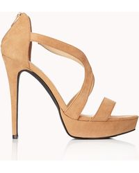 Forever 21 - Clear Cut Stiletto Sandals - Lyst