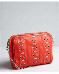 Kelsi Dagger Poppy Grained Leather Chain Strap Harley Medium Crossbody Bag - Lyst