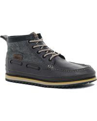 Rolando Sturlini Lacoste Sauville Mid Boots - Gray
